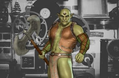 orc in a movie!