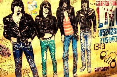 Rock band group graffiti