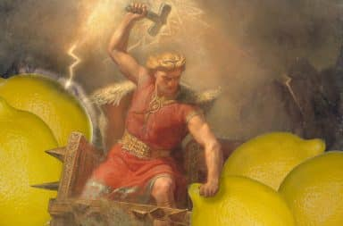 thor fends off the lemons