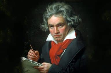 beethoven is the man on the keys