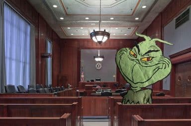 grinch in court