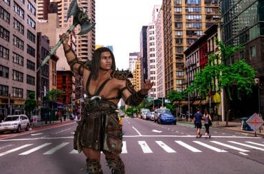 big barbarian in NYC