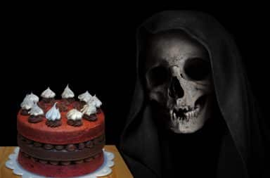 death baked a cake