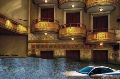 the theatre flooded
