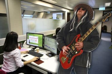 rocking out in the office? not bad for a monday :)