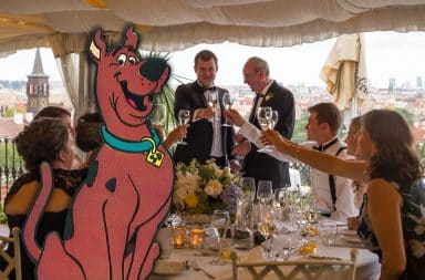 scooby at the wedding ruh roh how's this gonna end