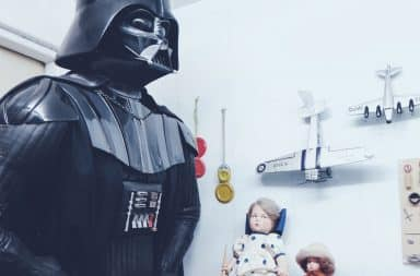 Star Wars: Darth Vader in a room with toys
