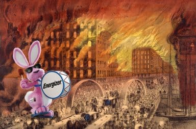 Chicago Great Fire, sponsored by Energizer Bunny