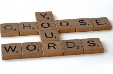 Choose Your Words tiles for word game