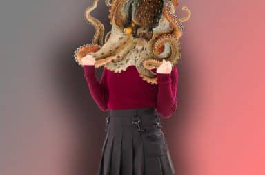 lady with an octopus on her head what're ya gonna do