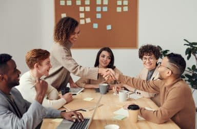 Customer success team meeting