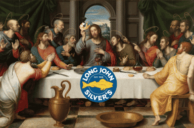 Long John Silver's The Last Supper painting