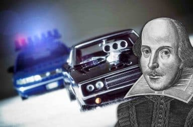 shakespeare car chase