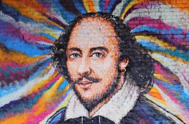 Shakespeare art mural multi-color