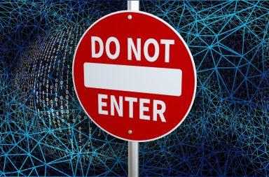 do not enter the web