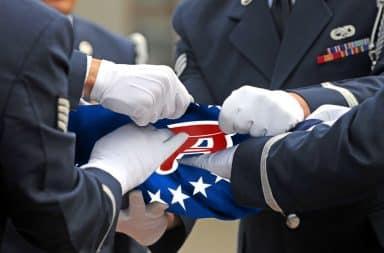 folding the flag