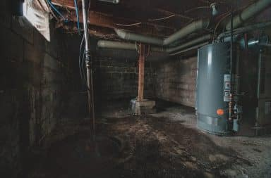 Dirty home basement