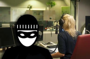 robbing the radio station