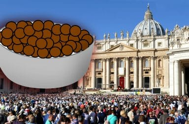 cocoa puffs in the vatican