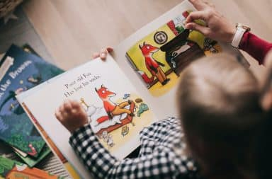 Children's picture book reading