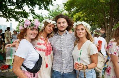 Midsommar festival goers