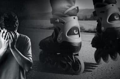 sad roller blader