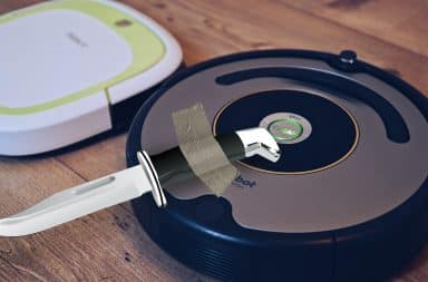 roomba with a knife
