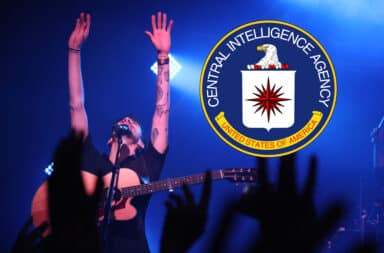 CIA pop songs rock star on stage