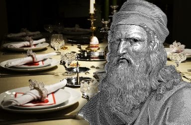 leo da vinci sad about a dinner party