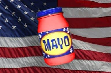 red mayo flag yum yum