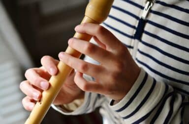 playing the recorder