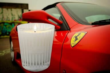 Ferrari candle for men