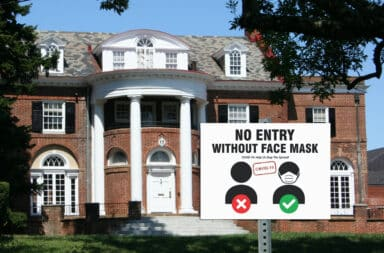 frat covid sign wear a mask