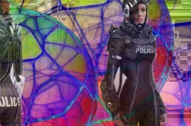 futuristic police look out