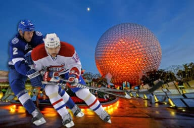 hockey at disneyland
