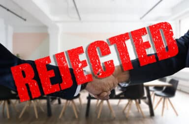 job interview rejection