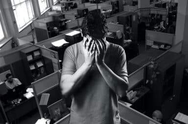 sad in the office