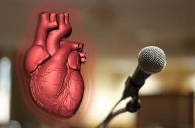 heart at the speech