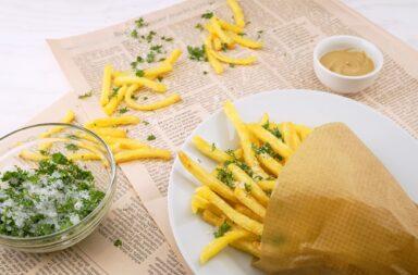 newspaper fries yum