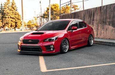 Subaru WRX red sport