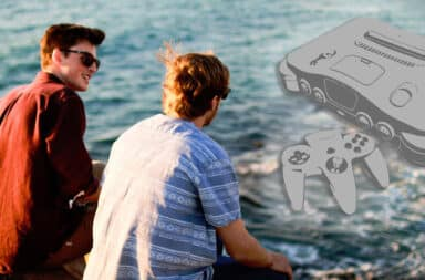 friends by the shore, talking n64