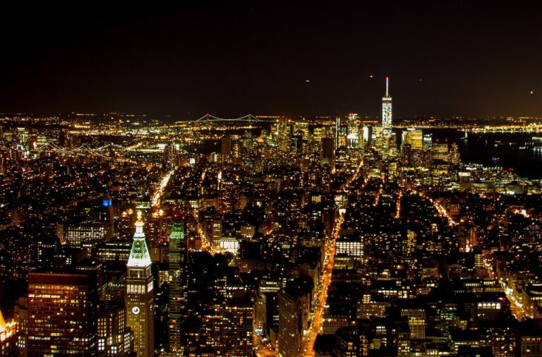 new york city at the night time