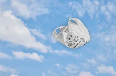 it's the bag floating in the sky