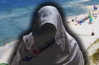 beach demon hooded scary