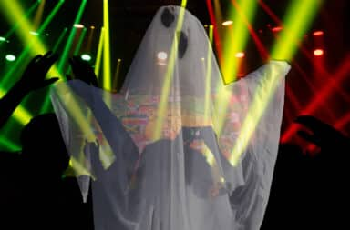 ghost at a big party
