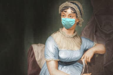jane austen in a mask