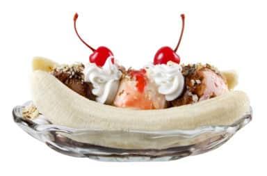 the ice cream treat known as the banana split