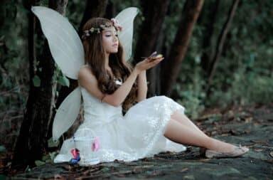 Fairy woman in a dress