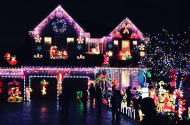 holiday lights house