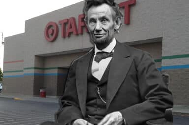 lincoln in front of a target store